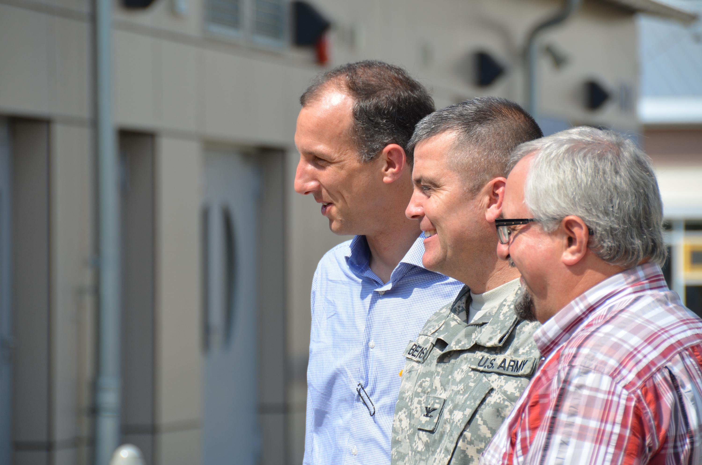 Bad Ansbach bad windsheim illesheim officials take walking tour of storck