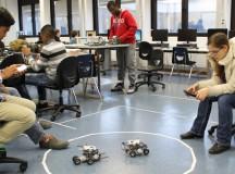 Tech students design, race robots