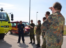 Host Nation district liaison soldiers visit Fire Training Center