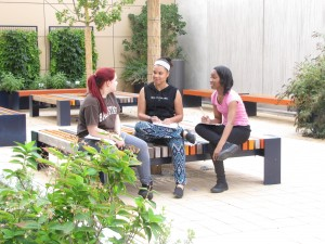 AMHS Journalism: Students use new courtyard at AMHS