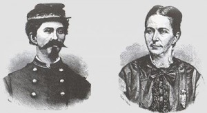 illustration depicts Loreta Janeta Velazquez and her alias, Lt. Harry T. Buford of the Confederate States Army. Courtesy of the Library of Congress. (Courtesy illustration)