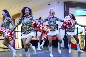 Cheerleaders for the Kansas City Chiefs perform a variety show at Urlas Community.