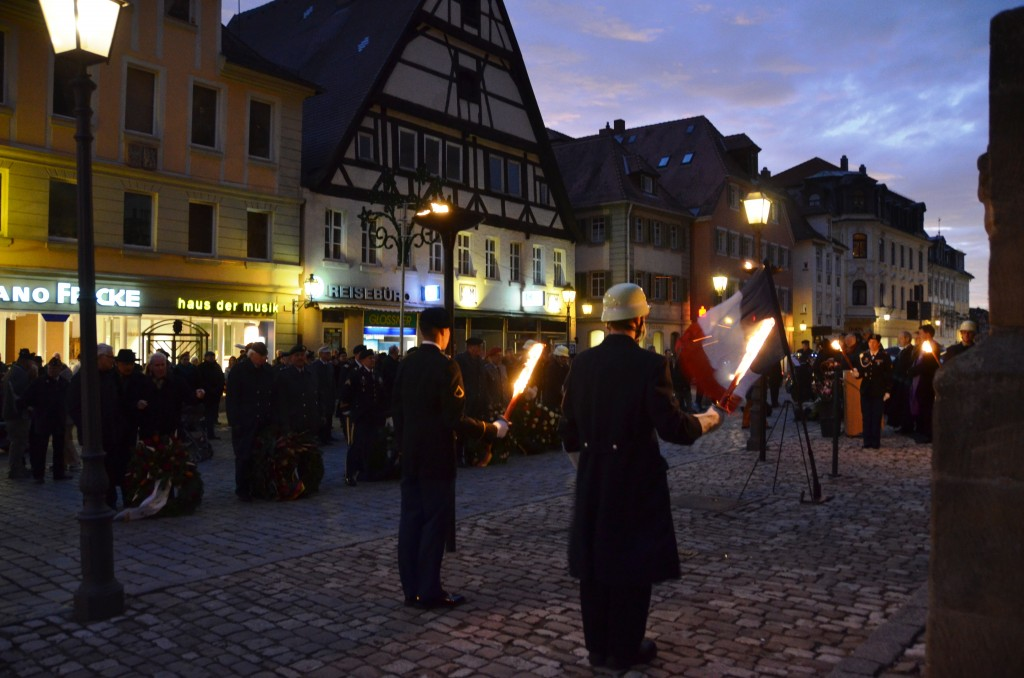 The U.S. Army Garrison Ansbach joined the city of Ansbach in a ceremony for Volkstrauertag. (U.S. Army photo by Bianca Sowders, USAG Ansbach Public Affairs)