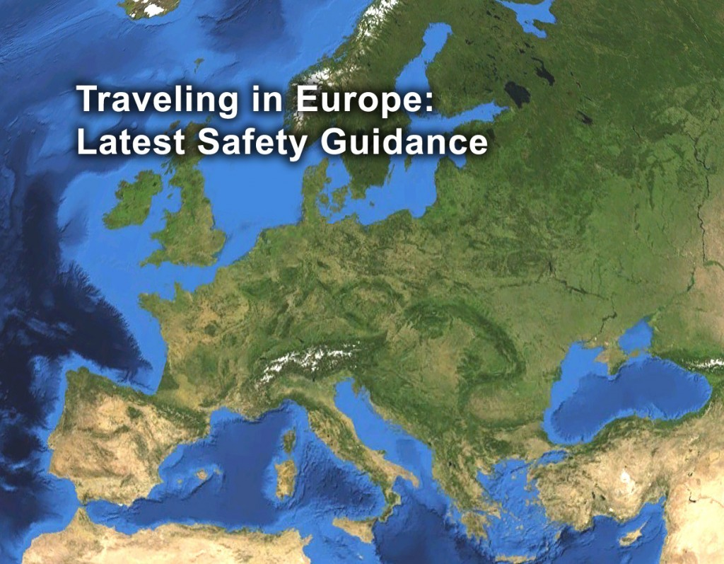 Latest safety guidance for traveling in Europe