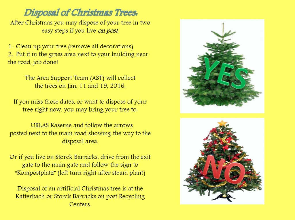 Dispose Of Christmas Tree