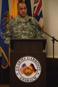 Cuvellier speaks during his assumption of responsibility ceremony.