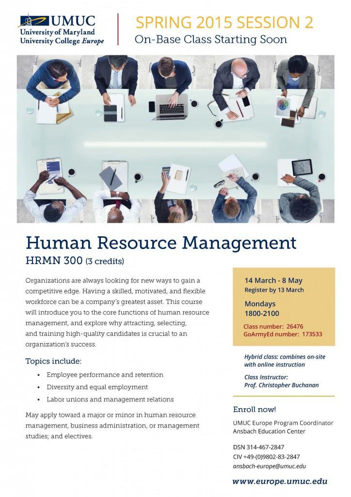 HRMN 300 Human Resource Management-UMUC