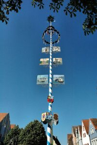 A Maibaum is often decorated intricately. (Photo courtesy of Bavarian Times)