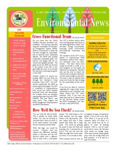 Environmental Newsletter – April 2016