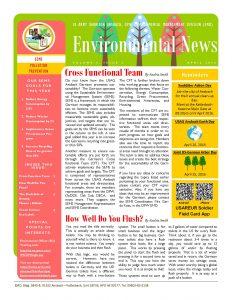 Environmental Newsletter – April 2016