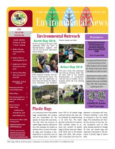 Environmental Newsletter – June 2016
