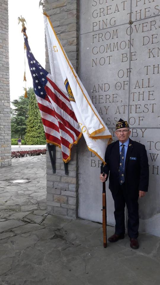 Ken Aungst, American Legion Ansbach Post 1982 commander and 2016 Department of France Commander of the Year, visits the 101st Airborne Division Museum in Bastogne, Belgium, June 18, 2016, while attending an American Legion convention. (Courtesy photo)