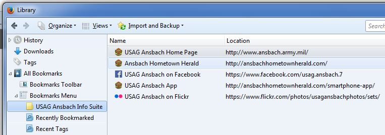 Bookmarking and regularly checking U.S. Army Garrison Ansbach's suite of information resources is highly recommended.