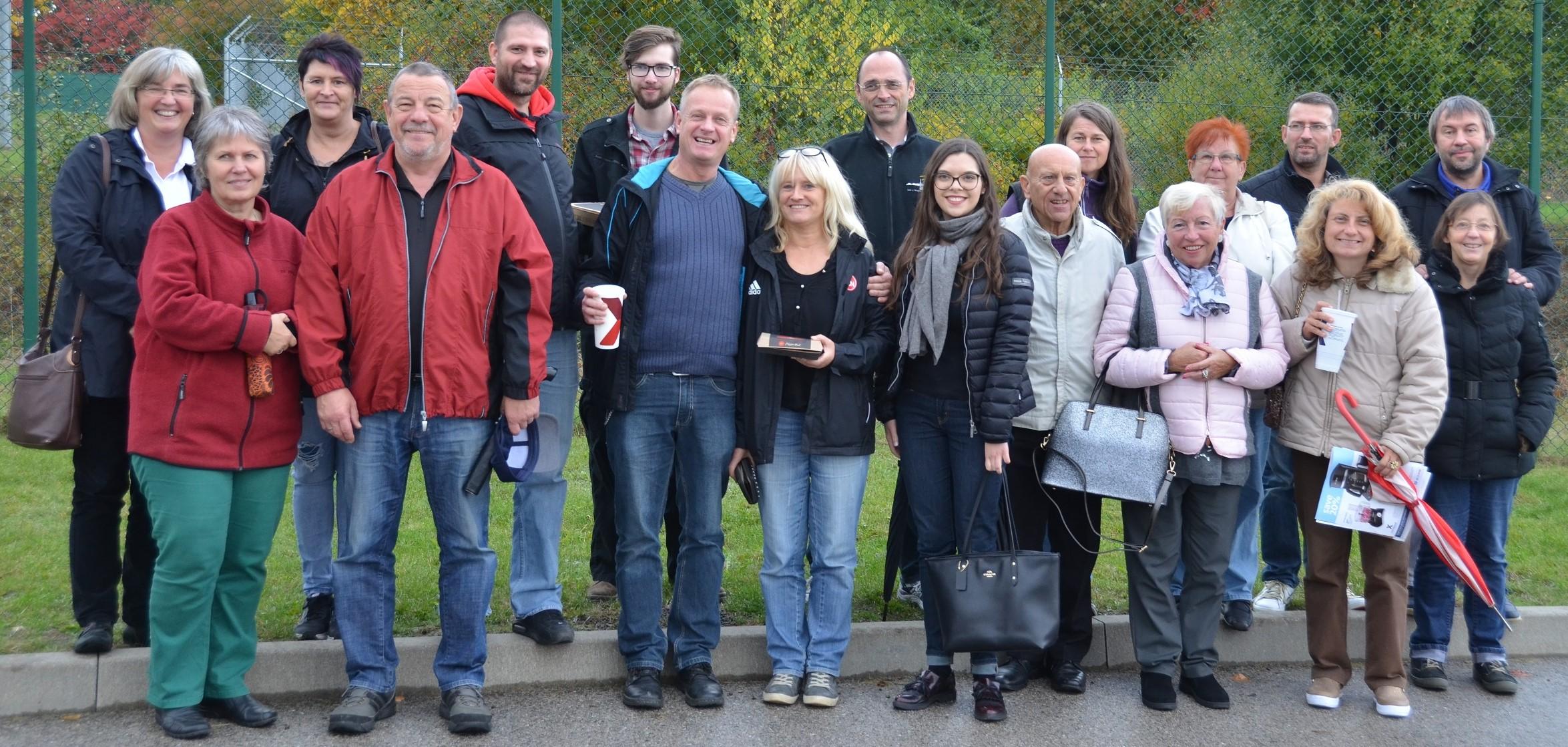 Members of Outreach-KONTAKT Franken, U.S. Army Garrison Ansbach's official German-American friendship club, toured Katterbach Kaserne, Bismarck Kaserne and Urlas Community Oct. 21.