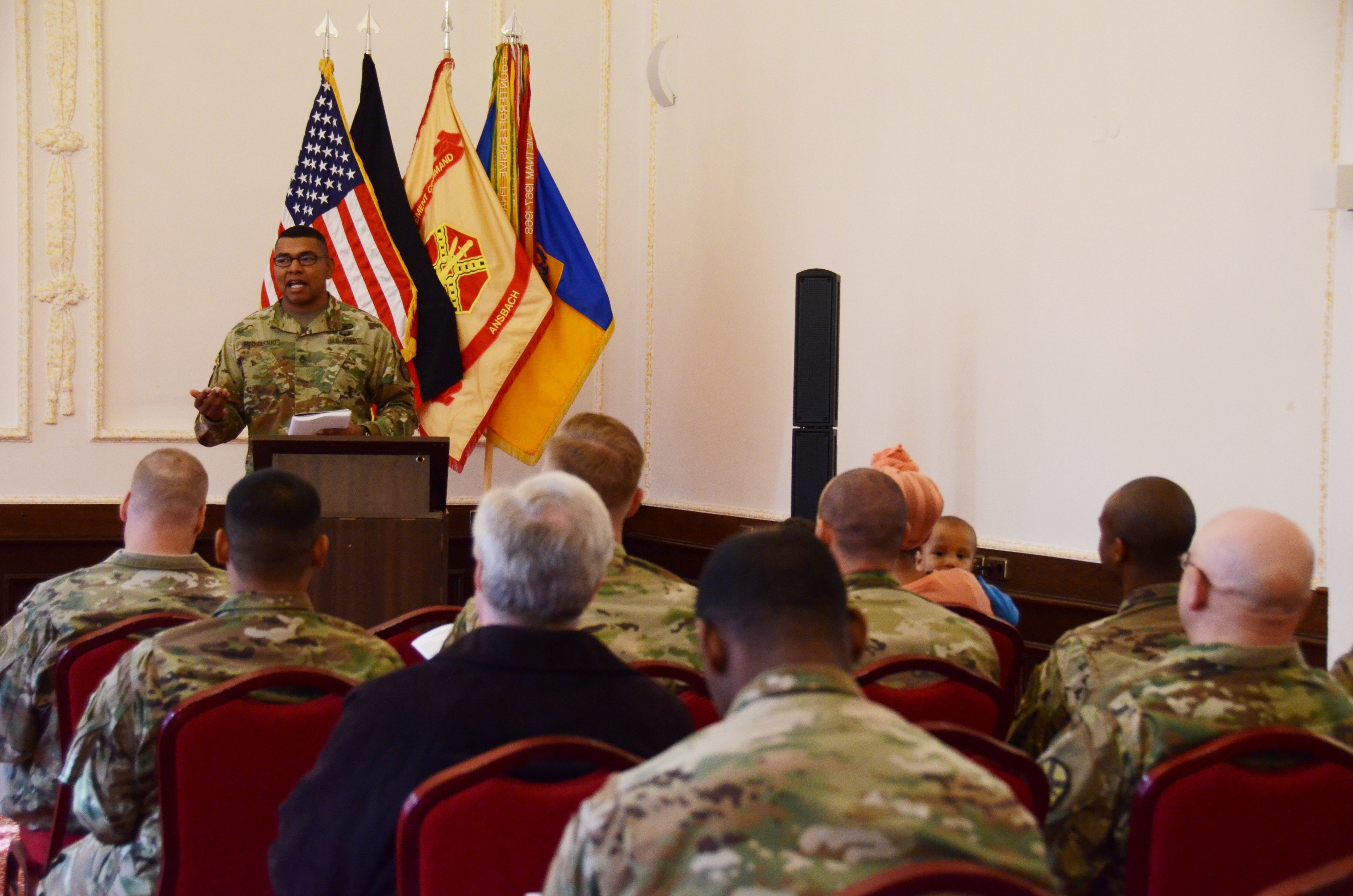 Staff Sgt. Lionell Red Cloud, patrol team leader with the U.S. Army Garrison Ansbach Provost Marshal's Office, shares his Family's history.