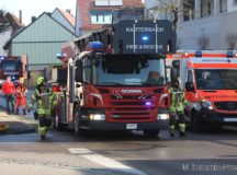 Katterbach Fire Department supports emergency request - U.S. Army firefighters from the Katterbach Fire Department prepare to support a request to help evacuate a local Ansbach citizens. (Photo: Thomania-Press)