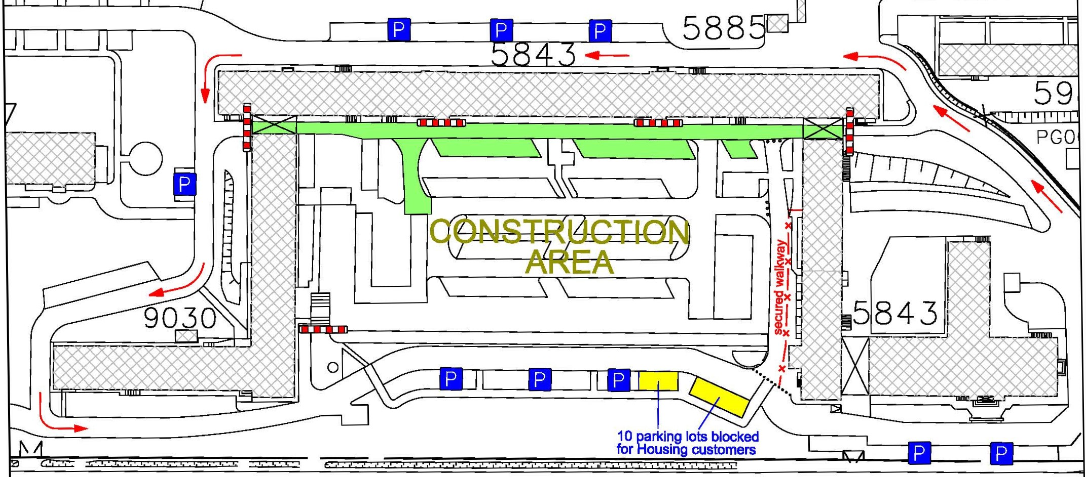 CONSTRUCTION: DPW parking lot at Bismarck Kaserne to close during road construction April 18 through June 9