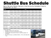 Shuttle Bus Schedule
