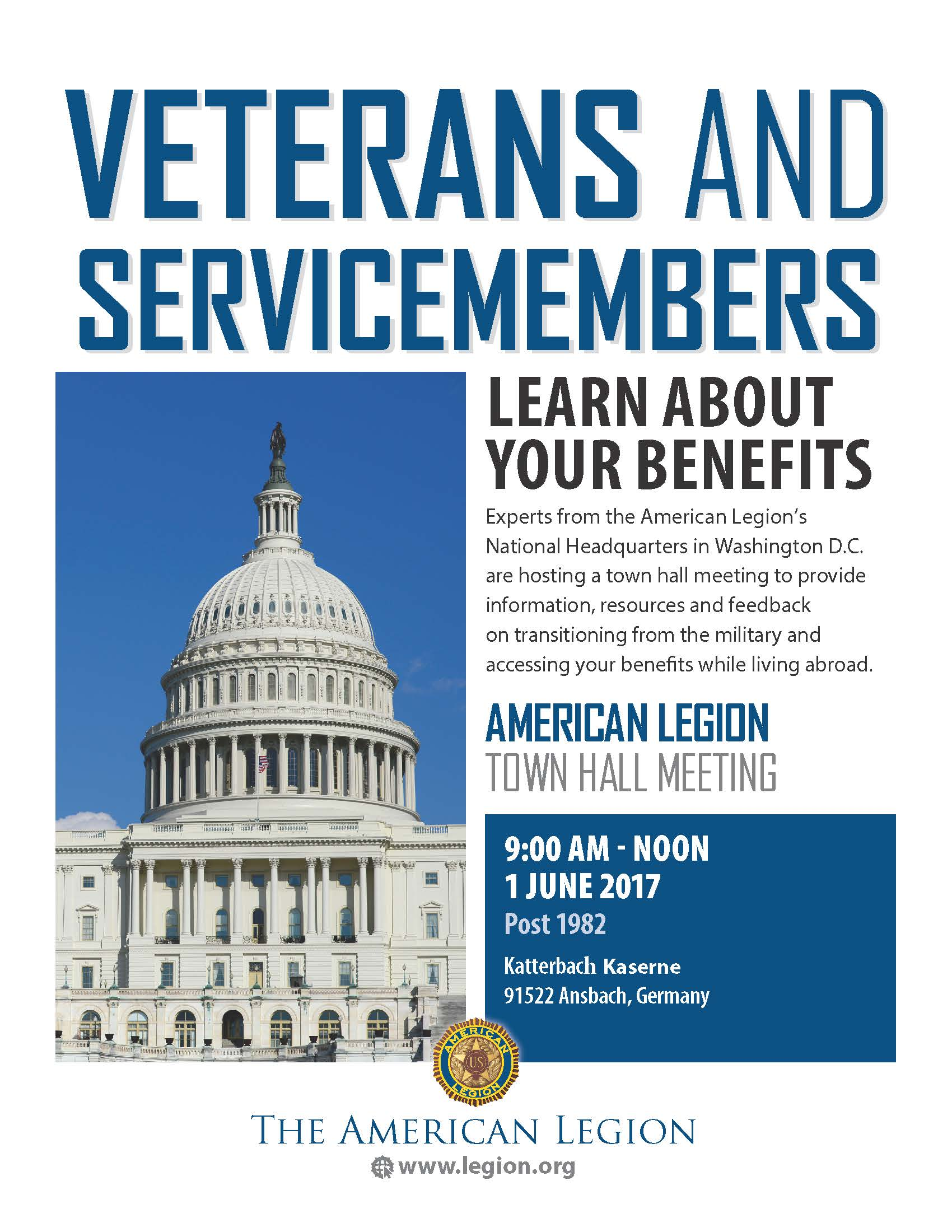 American Legion to host town hall at Katterbach June 1, to discuss vet benefits