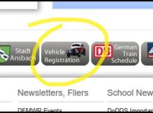 Beginning June 19, the Vehicle Registration button at the bottom of every page of the USAG Ansbach website, will take users to the new online appointment system.