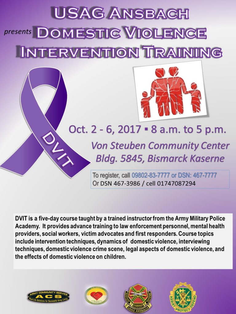 Register now for 5-day Domestic Violence Intervention Training in October