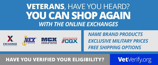 Veterans can now verify Exchange Online shopping privileges
