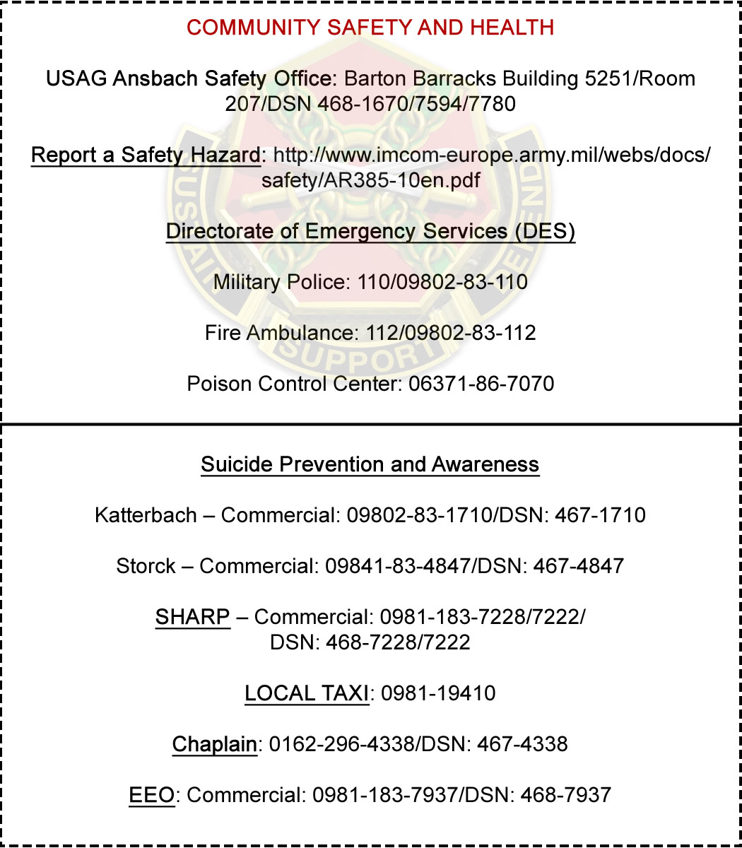 Safety and health quick-reference pocket card