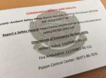 Safety, health quick-reference contact pocket card now available