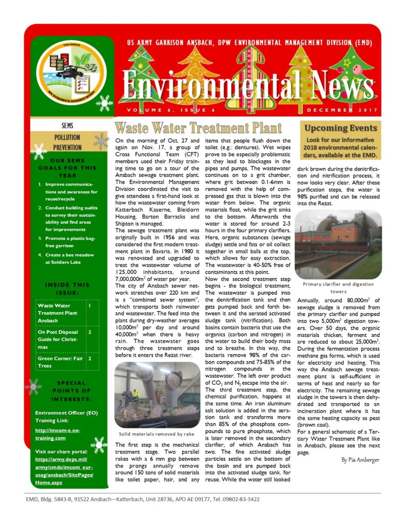 Environmental newsletter – December 2017
