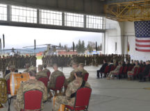 USAREUR, USAG Ansbach and 12th CAB leaders welcome 1st Air Cavalry Soldiers to Europe