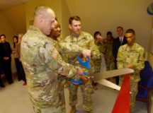 ANSBACH, Germany – The U. S. Army Garrison Ansbach (USAG Ansbach) Tax Center on the third floor in building 5817 on Katterbach Kaserne officially kicked off the tax season with a grand opening of its tax center office Jan. 29. Each year the Ansbach Tax Center saves service members, military retirees and authorized family members hundreds of thousands of dollars in tax-return preparation and overlooked entitlements and exemption fees when filing their state and federal taxes. Tax center appointments can be made by calling CIV 09802-83-2324 or DSN 467-2324 or by emailing usarmy.ansbach.jmtc.list.ansbach-legal-assistance@mail.mil. Appointments are available Monday-Wednesday: 9:00 a.m. to noon and 1 to 4 p.m., Fridays 9:00 a.m. to noon. Thursday walk-ins are taken 9:00 a.m. to noon and 1 to 4 p.m. Photo by Michael Beaton, U.S. Army Garrison Ansbach Public Affairs (RELEASED).