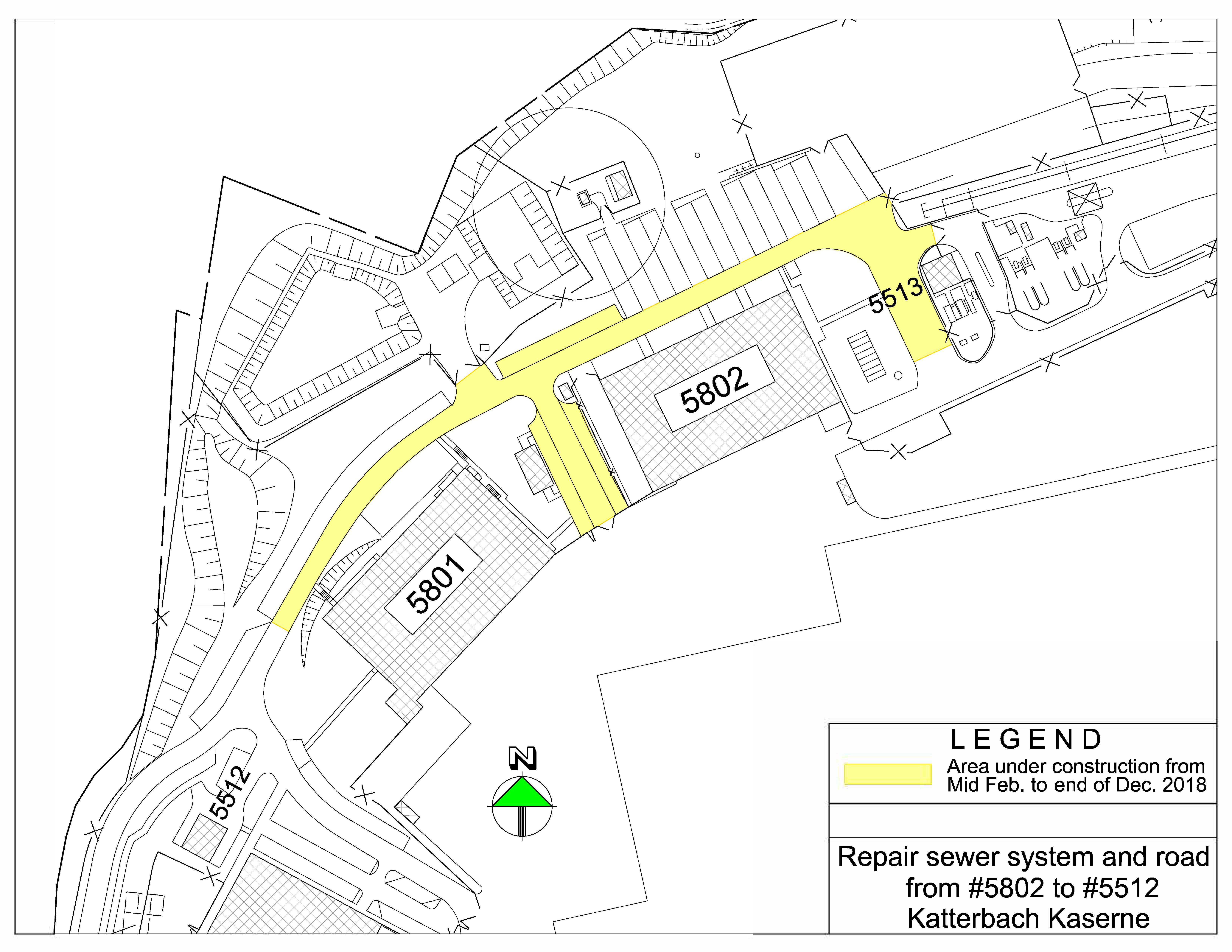 Sewer and road construction on Katterbach starting mid-February