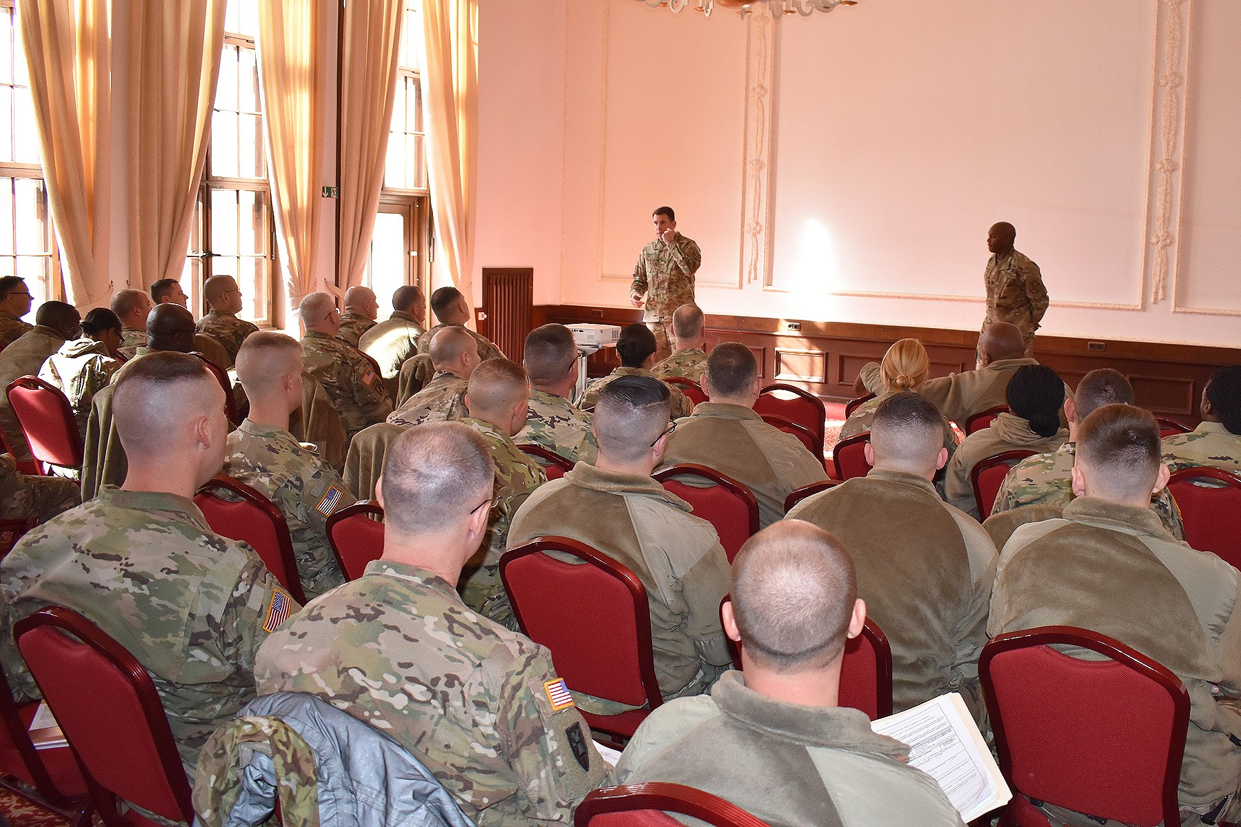 USAG Ansbach Commander Welcomes Rotational Brigade to Germany.