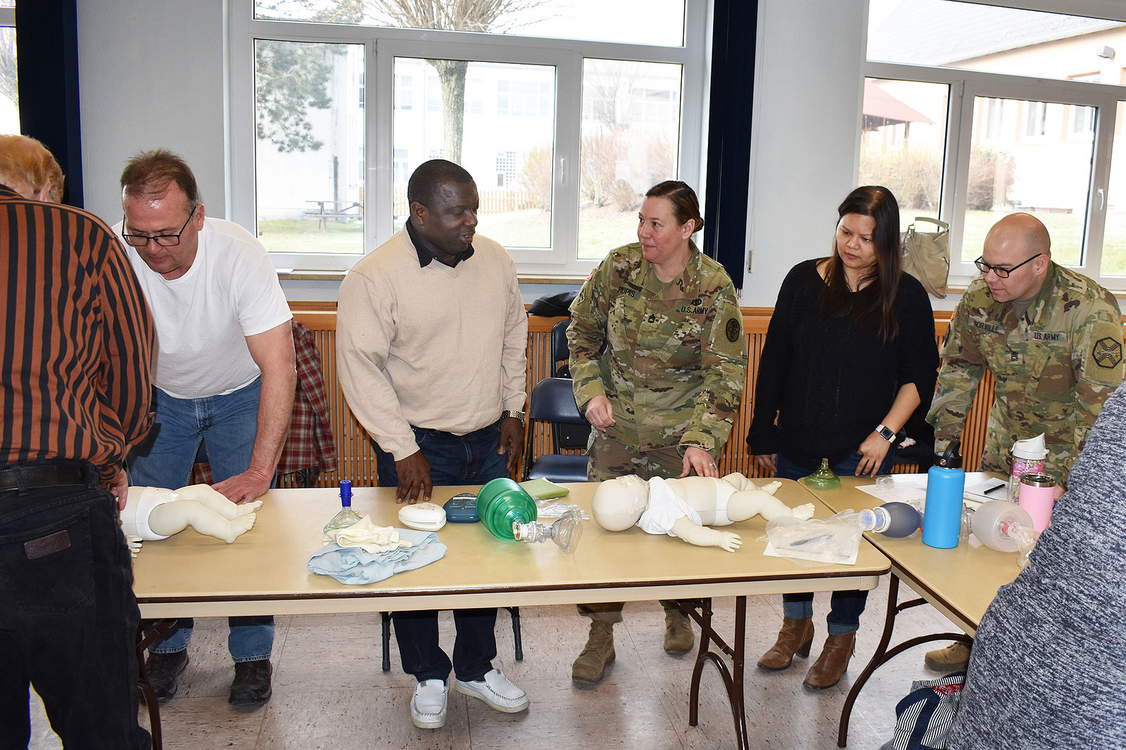 USAG Ansbach Safety, Occupational Health Office and AHA team up to offer community CPR Training