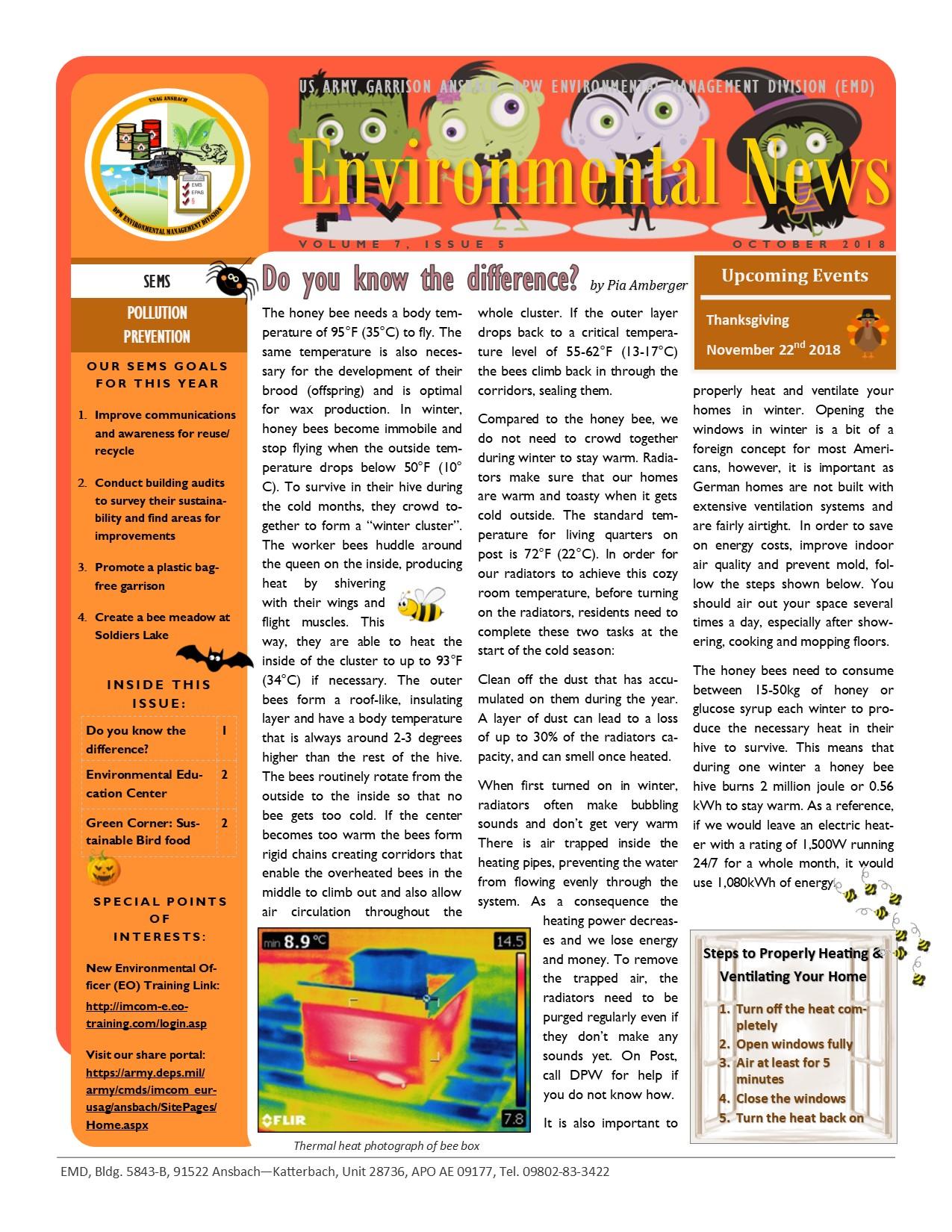 Environmental Newsletter – October 2018