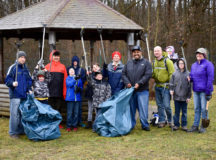 Ansbach cub scouts and boy scouts clean up Bleidorn Kaserne