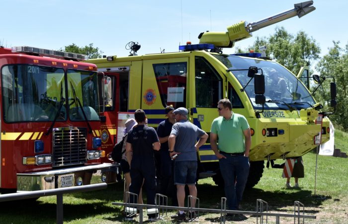 U.S. Army Firefighters support volunteer colleagues