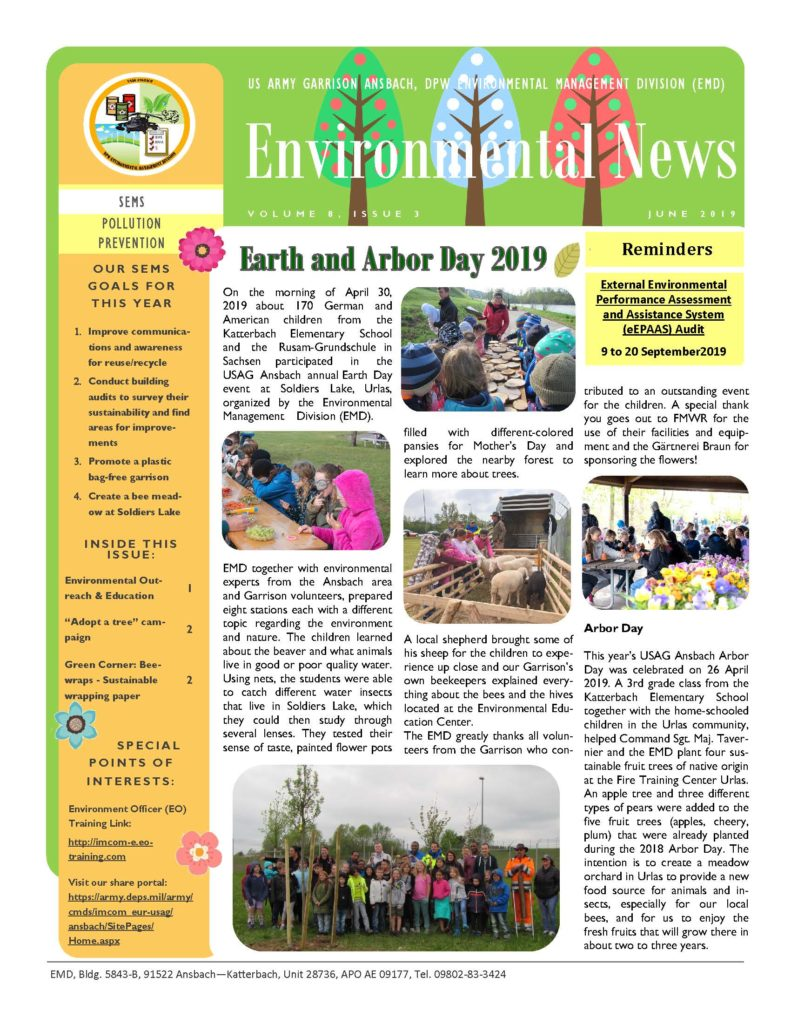 Environmental Newsletter – June 2019