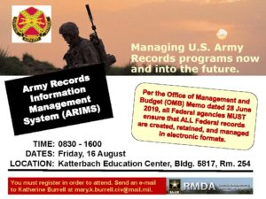 Army Records Information Management System Course