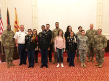 IMCOM-Europe CSM speaks during USAG Ansbach Hispanic Heritage Month event