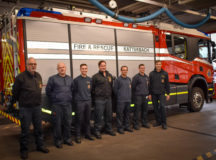 USAG Ansbach Directorate of Emergency Services provided support to off-post firefighters