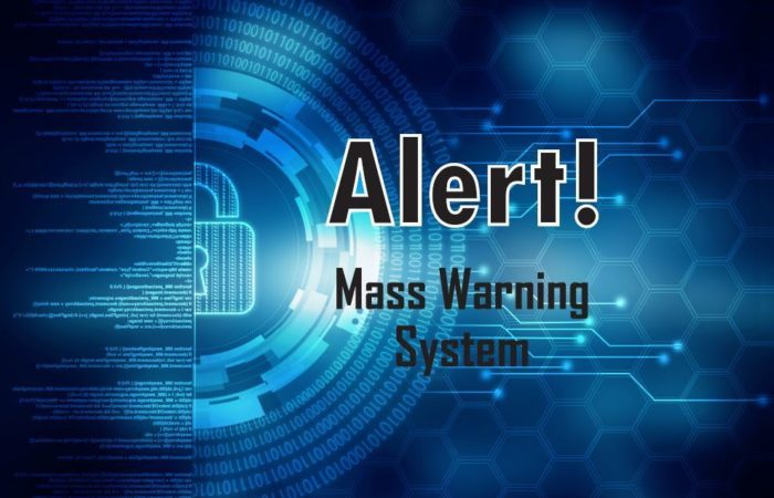 Army Materiel Command is in the process of switching its mass warning system to the new Alert! system. Alert! is a government, off-the-shelf program that sends alerts through computer networks, phone calls, emails and text messages. (U.S. Army graphic by Nicole Blanks)