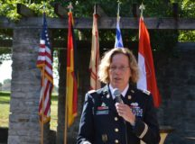 Ansbach garrison commander welcomes host nation guests at delayed reception