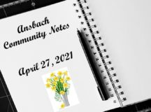 Ansbach Community Notes – April 27, 2021
