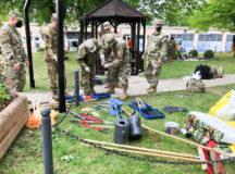 Rotational unit restores memorial garden ahead of Memorial Day at Storck