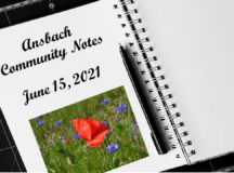 Ansbach Community Notes – June 15, 2021