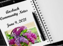 Ansbach Community Notes – June 9, 2021