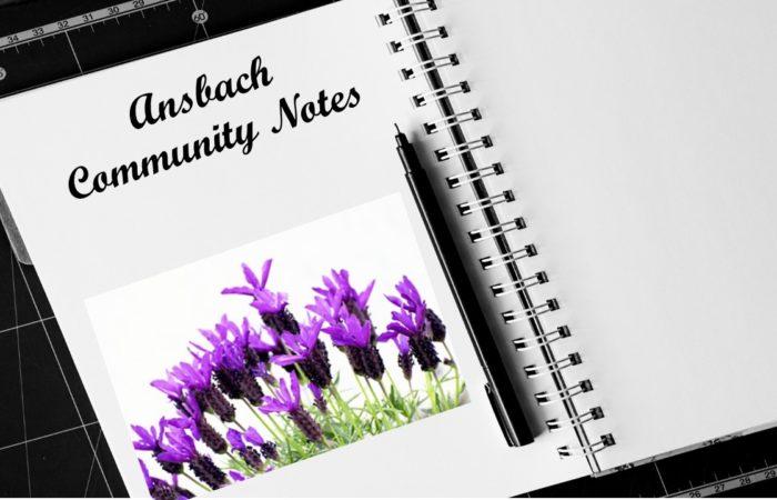 Ansbach Community Notes – July 20, 2021